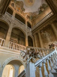 Amazing archictecture and paintings in the monumental staircase