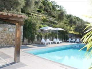 Swimming pool with large terrace for sunbathing, and a porch with 2nd lounge area