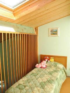 Mezzanine floor. 2 singles 1 double bed