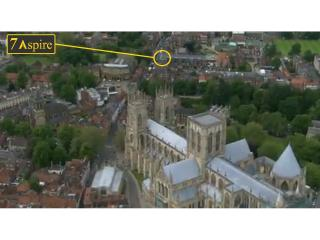 Only 2 minutes walk to the Minster