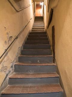Stairs, down to Upstairs (quite steep)