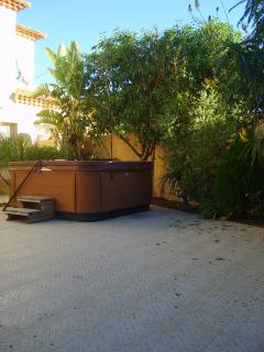 Jaccuzzi in winter garden
