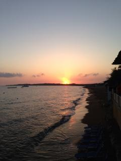 Sunset view from a taverna in St Georges