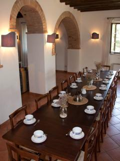 Large lounge for groups  (80sq.m.)  with table for 20 persons