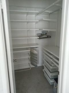 Walk In Closet w/ custom shelving