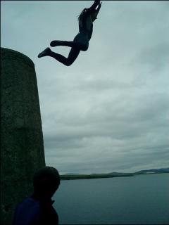 Jumping off harbour wall!!