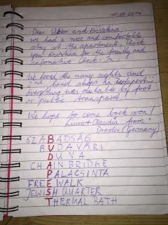 Review from our guestbook