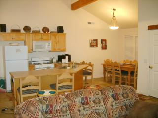 Our open floor plan from dining room to kitchen to living room allows plenty of seating and space.