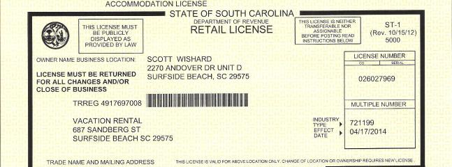 Our State License