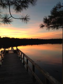 View of sunset over dock-Awesome!