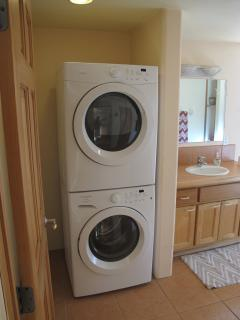 A full size washer and dryer are provided for your convenience.