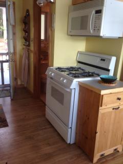 Gas stove, microwave