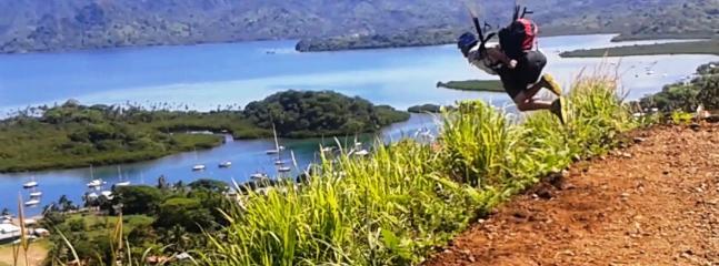 Easy launch fly directly over Savu Savu township.