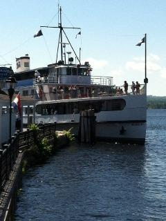 Enjoy a cruise on the Mount Washington cruise ship from Wolfeboro dock