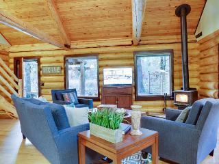Beautiful, dog-friendly cabin on the river with private hot tub & shared pool