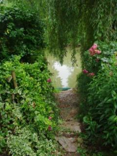 L'accès à la rivière Le Dropt