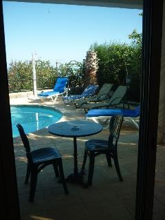 Patio Doors from master bedroom to poolside