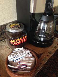 Complimentary Kauai Coffee