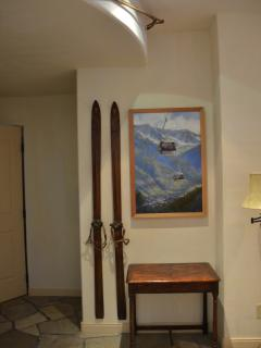 More original Wayne McKenzie Telluride art and vintage ski gear