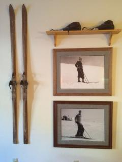 My dad's skis and ski boots from 1949.