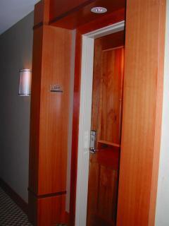 entrance door to condo