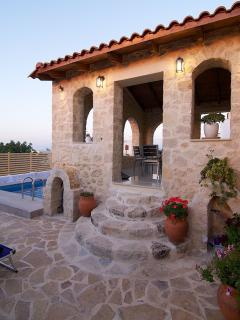 An aspect of the pool and terrace!