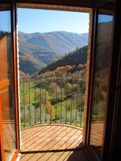 Mountain view from bedroom balconies