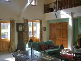 The main sitting room.with open fire and minstels gallery .