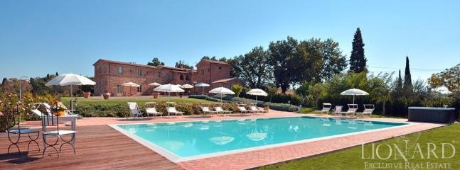 view of Casale Cardini from swimming pool