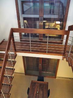 Split-level penthouse.