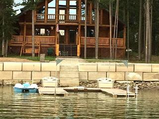 Knotty Pine Lodge is waterfront on the Island Park Reservoir