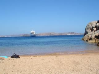private, secluded beach at the end of the garden