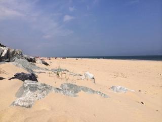 Adjoining sandy beach