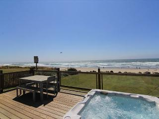 Oceanfront Home w/ Ocean View Hot Tub & Easy Beach Access!