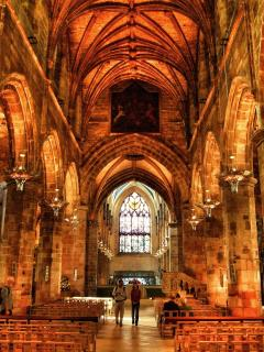 St Giles Cathedral, High Kirk of Edinburgh, Royal Mile.