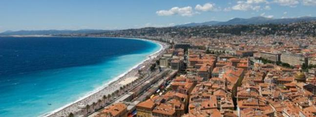 The beautiful town of Nice is worth a visit! The antique market is on Sunday in the old centre.