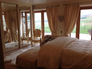 Master bedroom overlooking Benachie