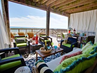 Spacious, comfortable, private beach level deck