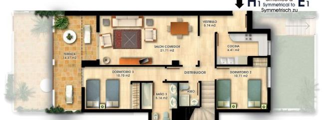 Down floor plan