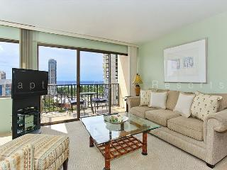 Beautiful 17th floor ocean-view condo with Toto washlet, FREE parking & WiFi!, Honolulu