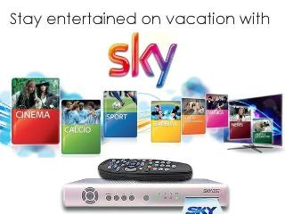 Stay entertained on vacation. Our TV has Premium Sky TV channels free of charge.