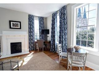 Across the hall from Liberty Landing, this one bedroom has a cathedral view!