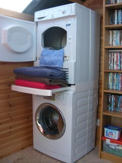 Our 'Bothy' has laundry facilities, films to watch, ready made meals, barbeque foods etc etc