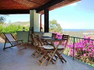 Villa con piscina, terrazza e giardino, vista mare, Budoni