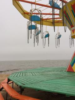 The beach at Cleethorpes with its traditional British fun