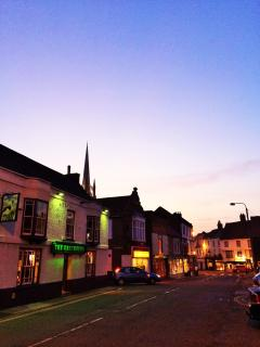 Lovely award winning Louth, with its excellent shops, bars and restaurants.