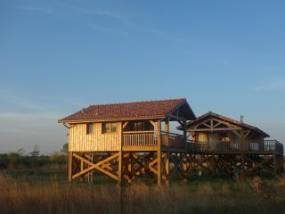Maisons sur pilotis à la pointe du Médoc, Talais