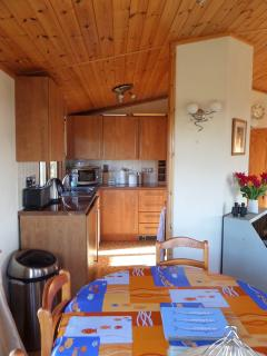 Dining area towards kitchen