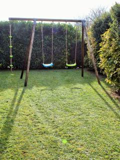 Childrens Play Area with Swing and Rope Set