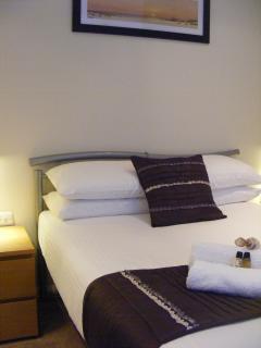 Fresh crisp white linen; towels provided